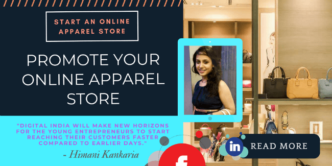 Promote an online apparel store
